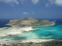 balos海湾克利特希腊 库存照片