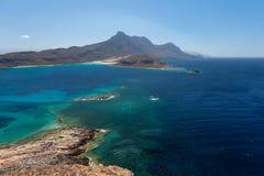 Balos海湾的视图  库存照片