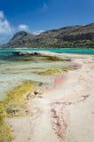 Balos海滩-海岛克利特,希腊 免版税库存照片