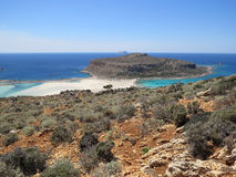 Balos海滩 免版税库存照片