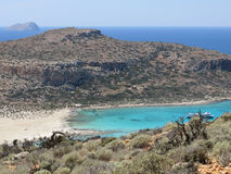 Balos海滩 库存照片