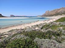Balos海滩 免版税库存图片