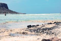 Balos海滩 免版税图库摄影