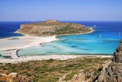 Balos盐水湖,克利特,希腊 免版税图库摄影