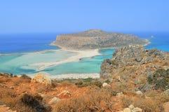 Balos Крит Греция Стоковые Изображения