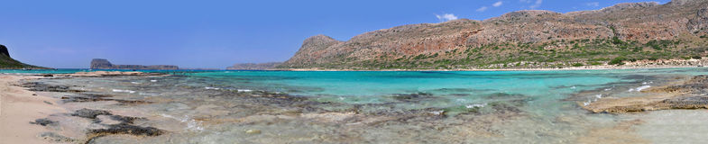 Balos bay. Crete island Stock Photos