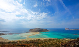 Balos bay on Crete island Royalty Free Stock Images