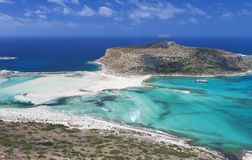 Balos bay at Crete island, Greece Royalty Free Stock Photography