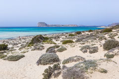 Balos bay at Crete island in Greece. Area of Gramvousa. Royalty Free Stock Image