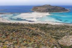Balos bay at Crete island in Greece. Area of Gramvousa. Stock Image