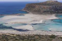 Balos bay at Crete island in Greece. Area of Gramvousa. Stock Photo