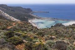 Balos bay at Crete island in Greece. Area of Gramvousa. Royalty Free Stock Photography
