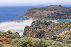 Balos bay at Crete island in Greece. Area of Gramvousa. Royalty Free Stock Images