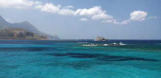 Balos Bay on the island crete in Greece Stock Images