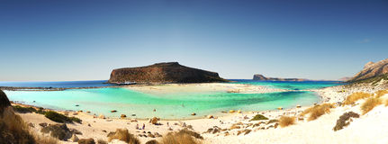 Balos Lagoon Beach, Crete island, Greece Stock Image