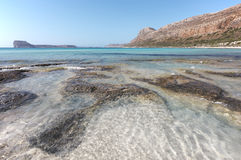Balos beach in Crete. Mediterranean landscape. Greece Royalty Free Stock Photography