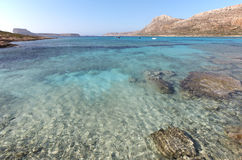 Balos beach in Crete. Mediterranean landscape. Greece Royalty Free Stock Photo