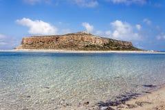 Balos beach at Gramvousa, Crete royalty free stock photography