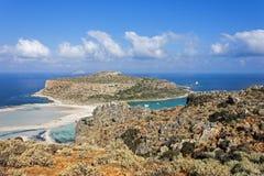 Balos beach at Gramvousa, Crete royalty free stock photo