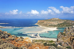 Balos beach at Gramvousa, Crete royalty free stock image