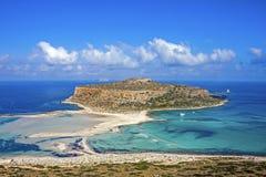 Balos beach at Gramvousa, Crete stock images