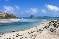 Balos beach at Gramvousa, Crete Royalty Free Stock Photography
