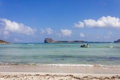Balos beach at Gramvousa, Crete stock photo