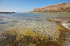 Balos beach in Gramvousa Peninsula. Crete. Greece Stock Images