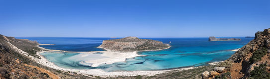 The Balos beach, Granvoussa, Crete Stock Photo