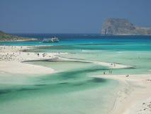 balos beach Krety Greece Obrazy Stock