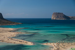 The Balos Beach lagoon in Crete Royalty Free Stock Photography