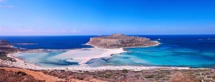 Balos beach panorama Royalty Free Stock Photos