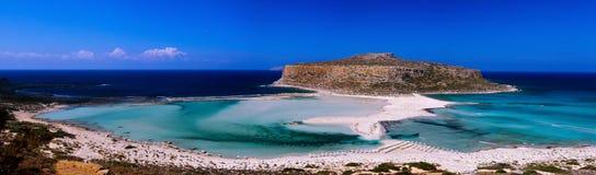Balos beach panorama Royalty Free Stock Images