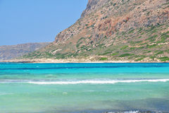 Balos Beach under a Mountain Royalty Free Stock Photography