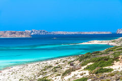 Balos beach. View on Balos beach and Gramvousa, Crete, Greece Stock Photography