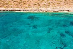 Balos beach. View from Gramvousa Island, Crete in Greece.Magical turquoise waters, lagoons, beache Stock Images