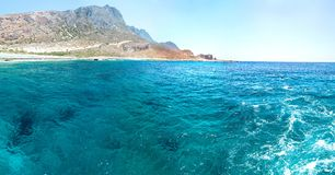 Balos beach. View from Gramvousa Island, Crete in Greece Stock Photos