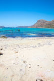 Balos beach. View from Gramvousa Island, Crete in Greece.Magical turquoise waters, lagoons, beaches of pure white sand. Royalty Free Stock Images