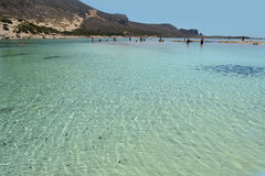 Balos in Crete, Greece. Balos Lagoon is one of the most beautiful beach in the Mediterranean. It is in the north of Crete (Greece stock photography