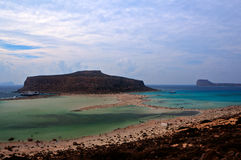 Balos Island bay, Mediterranean Sea, Crete Greece Royalty Free Stock Photo