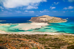 Balos lagoon from above Stock Image