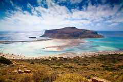 Balos Lagoon in the afternoon Royalty Free Stock Photos
