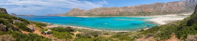 Balos Lagoon and beach panorama Crete Greece Stock Photography