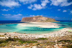 The Balos lagoon Stock Photography