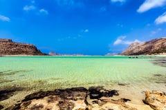 Balos lagoon Crete, Greece. Exotic beach lagoon of Balos in Chania, Crete, Greece Stock Images