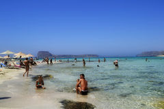Balos Lagoon in Crete (Greece). Stock Photos