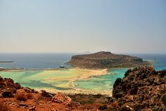 Balos Lagoon On Crete Island. Greece Royalty Free Stock Images
