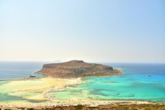 Balos Lagoon On Crete Island. Greece Stock Image