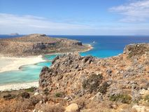 Balos Lagoon. East coast of Crete  Balos Lagoon Royalty Free Stock Image