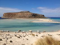 Balos Lagoon. East coast of Crete  Balos Lagoon Stock Photo